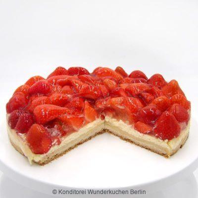 tarte-schmand-erdbeer-glutenfrei-. Online Shop und Lieferservice Kuchen Torten Berlin-