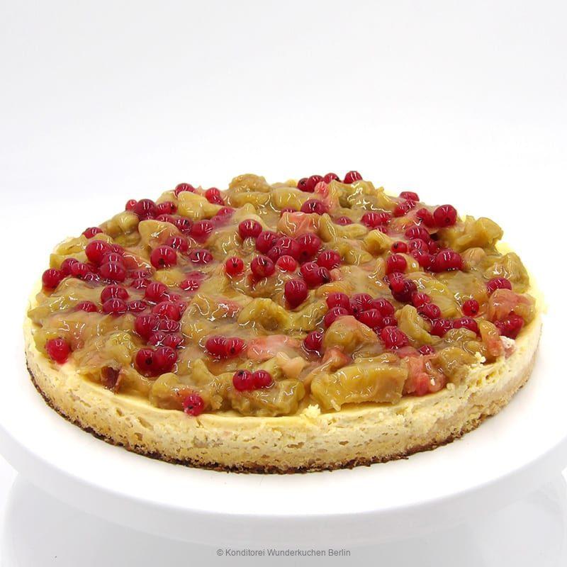 tarte-schmand-rhabarber-glutenfrei. Online Shop und Lieferservice Kuchen Torten Berlin-