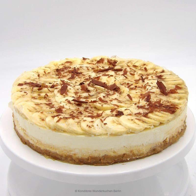 NY Cheesecake Frucht Banane. Online Shop und Lieferservice Kuchen Torten Berlin.