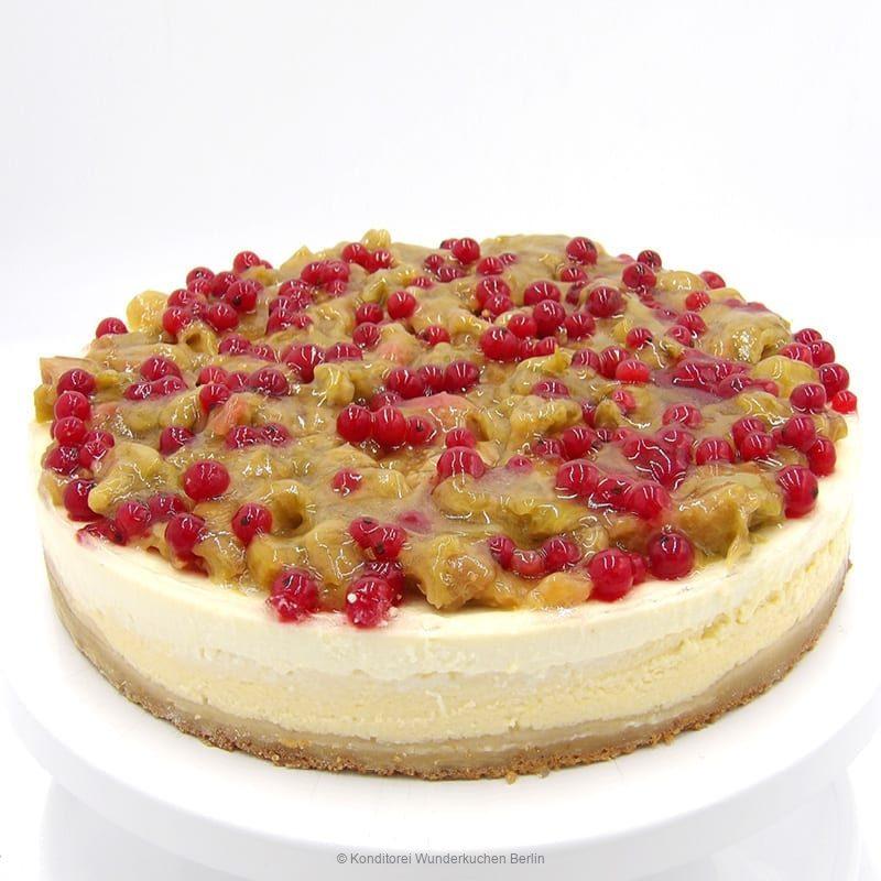 NY Cheesecake Frucht Rhabarber. Online Shop und Lieferservice Kuchen Torten Berlin-