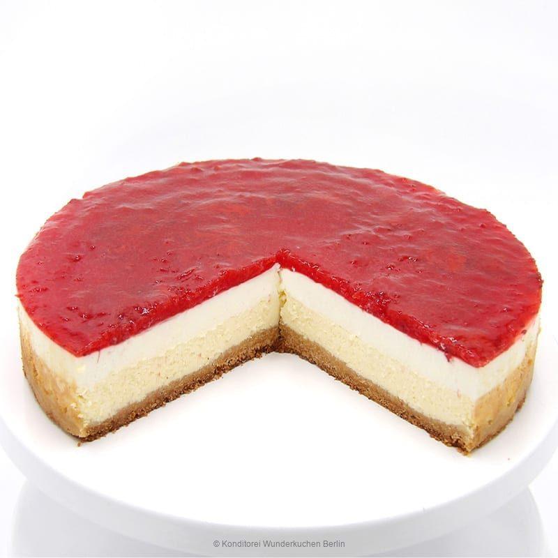 NY Cheesecake Spiegel Erdbeere. Online Shop und Lieferservice Kuchen Torten Berlin-