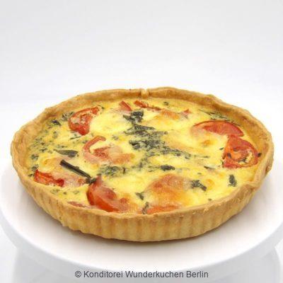 Quiche Tomate Mozzarella. Online Shop und Lieferservice Kuchen Torten Berlin.