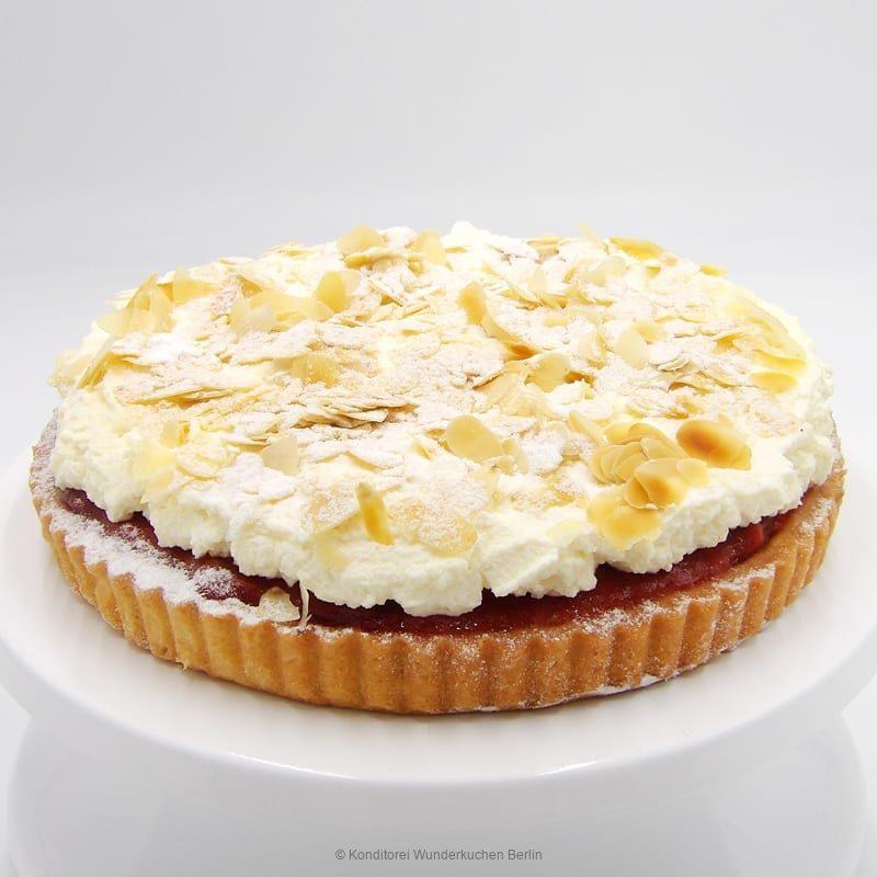 tarte-sahne-mandel-erdbeer. Online Shop und Lieferservice Kuchen Torten Berlin-
