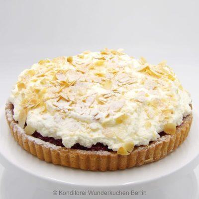 tarte-sahne-mandel-himbeer. Online Shop und Lieferservice Kuchen Torten Berlin-