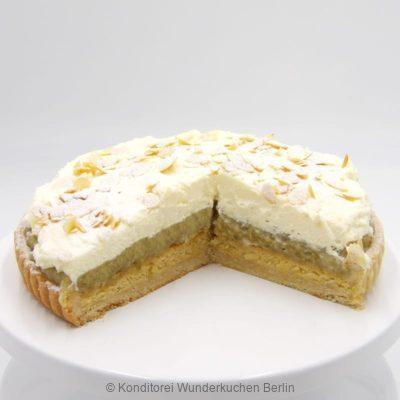 tarte-sahne-mandel-stachelbeer-. Online Shop und Lieferservice Kuchen Torten Berlin-
