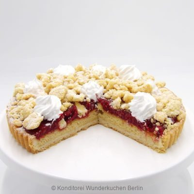 tarte-streussel-mandel-himbeer-. Online Shop und Lieferservice Kuchen Torten Berlin-