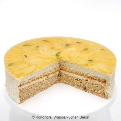 Sommerliche Apfeltorte saisonal. Online Shop und Lieferservice Kuchen Torten Berlin-