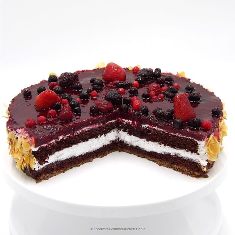 torte-waldfrucht-vegan-. Online Shop und Lieferservice Kuchen Torten Berlin-